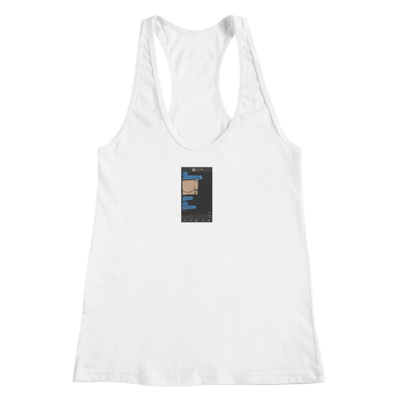Hard & Deep on Grindr Women's Racerback Tank by Gothman Flavored Clothing