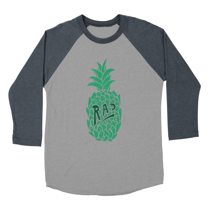 Rad Pineapple Women's Baseball Triblend T-Shirt by Seanic Supply Co.