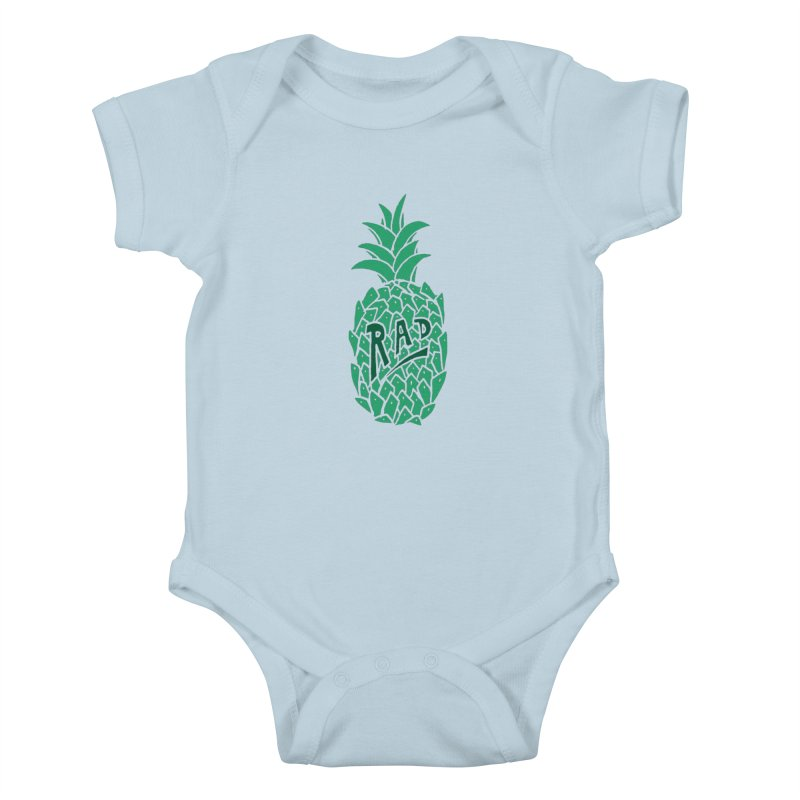 Rad Pineapple Kids Baby Bodysuit by Seanic Supply Co.