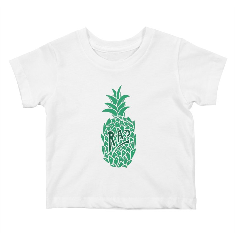 Rad Pineapple Kids Baby T-Shirt by Seanic Supply Co.