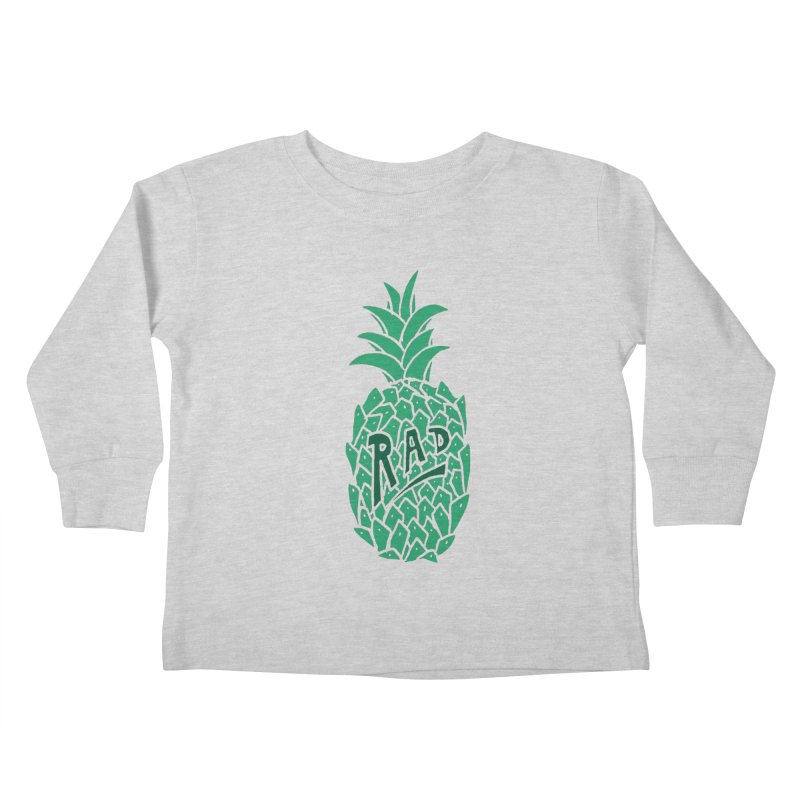 Rad Pineapple Kids Toddler Longsleeve T-Shirt by Seanic Supply Co.