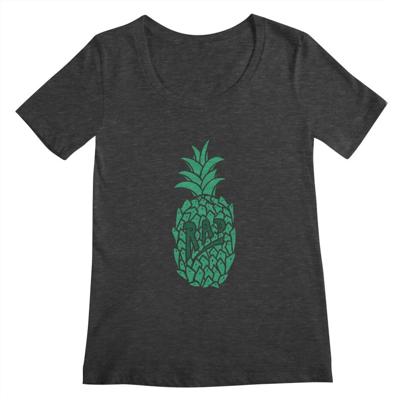 Rad Pineapple Women's Scoopneck by Seanic Supply Co.
