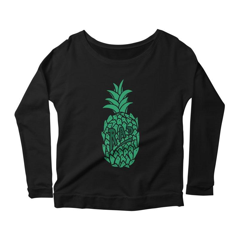 Rad Pineapple Women's Longsleeve Scoopneck  by Seanic Supply Co.
