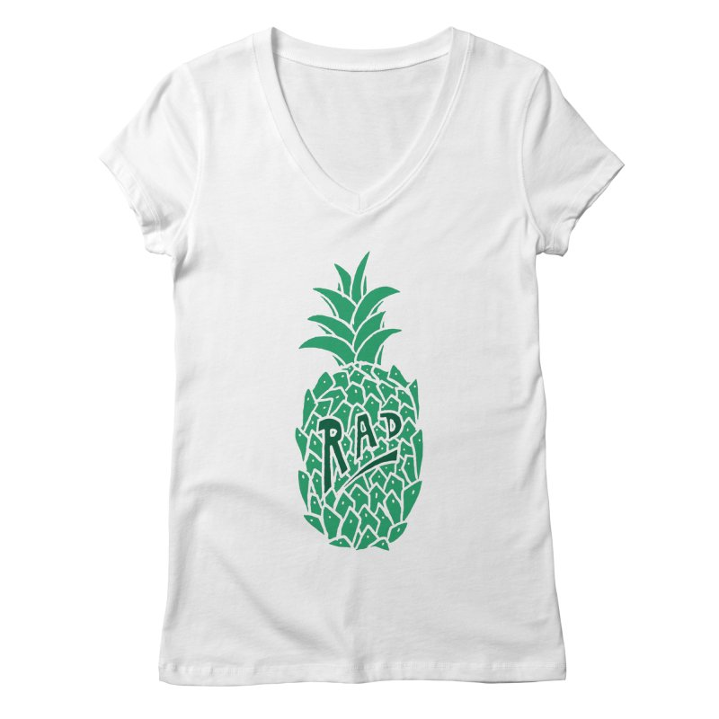 Rad Pineapple Women's V-Neck by Seanic Supply Co.