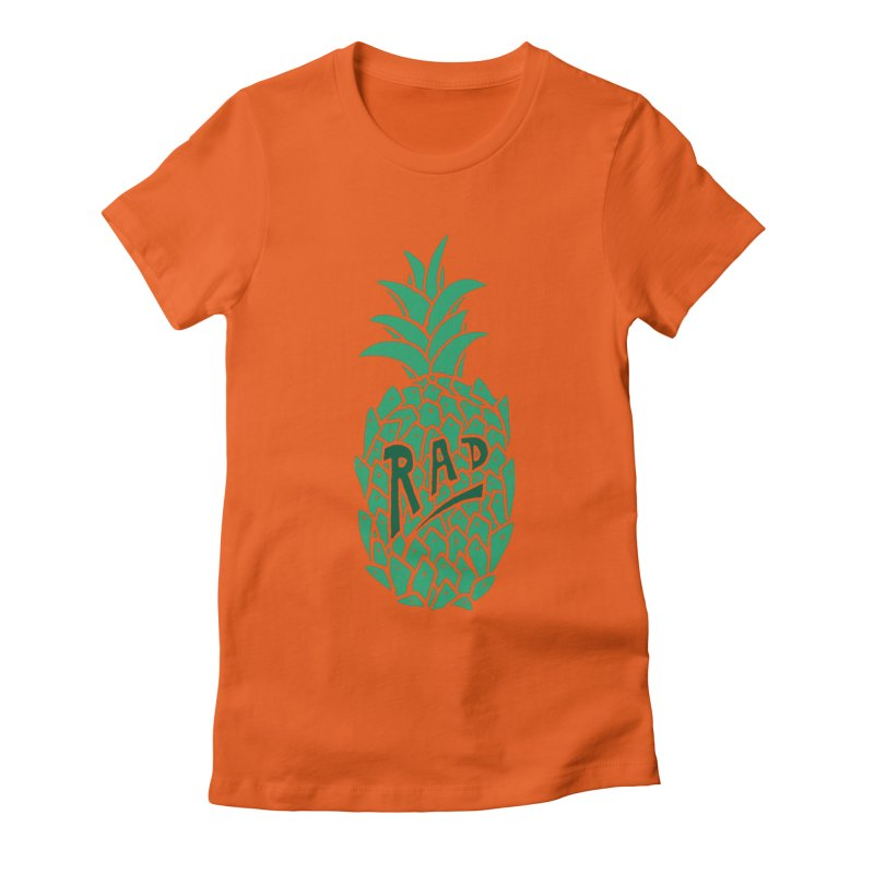 Rad Pineapple Women's Fitted T-Shirt by Seanic Supply Co.