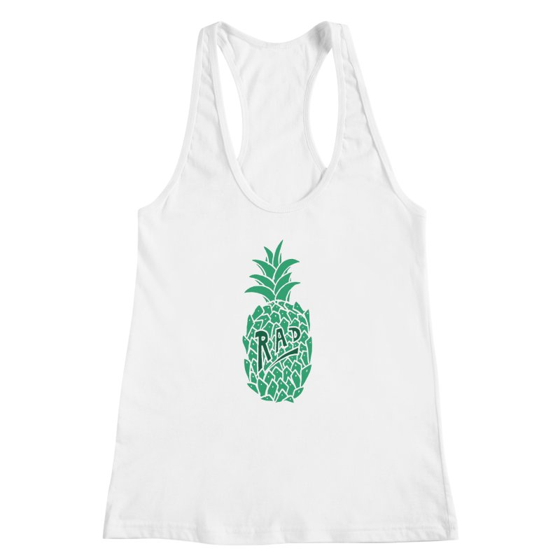 Rad Pineapple Women's Racerback Tank by Seanic Supply Co.