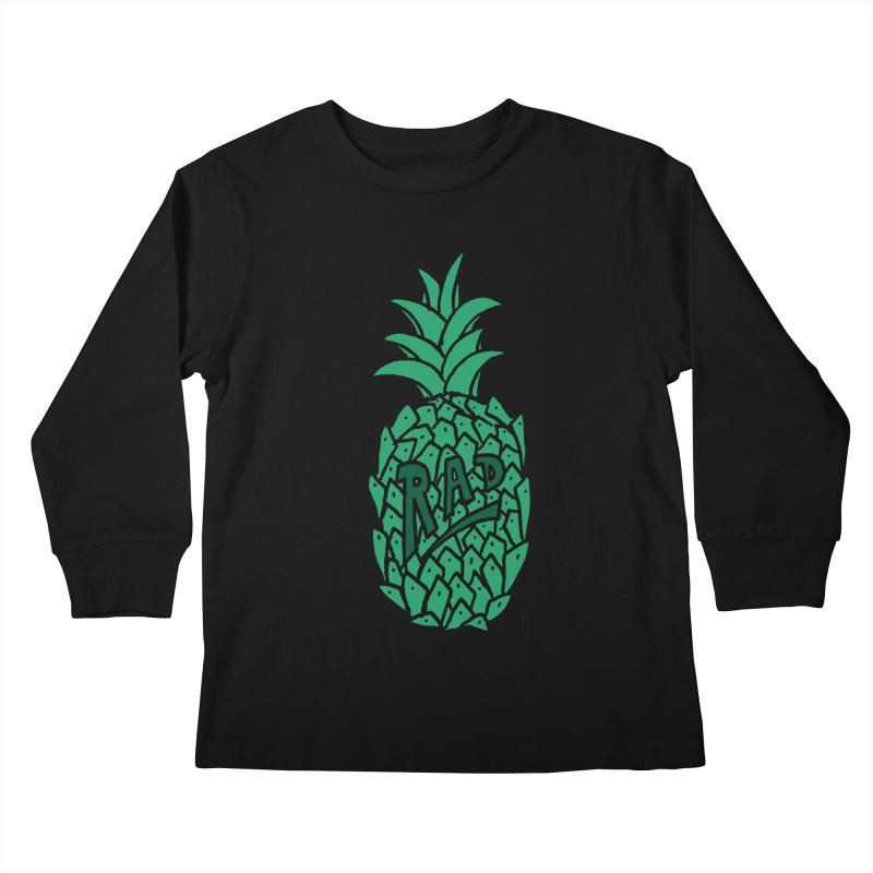 Rad Pineapple Kids Longsleeve T-Shirt by Seanic Supply Co.