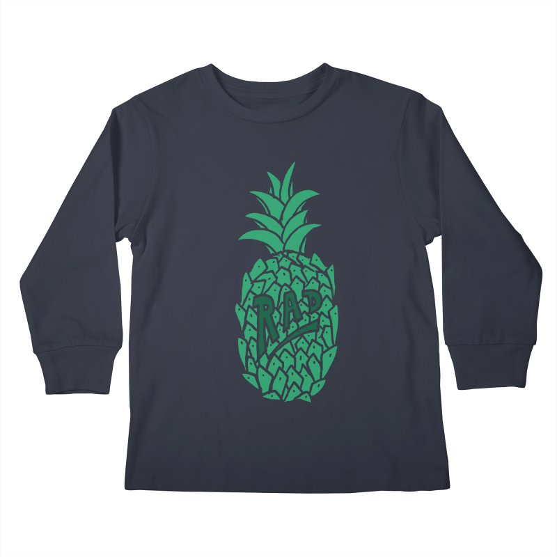 Rad Pineapple Kids Longsleeve T-Shirt by Seanic Supply Co.