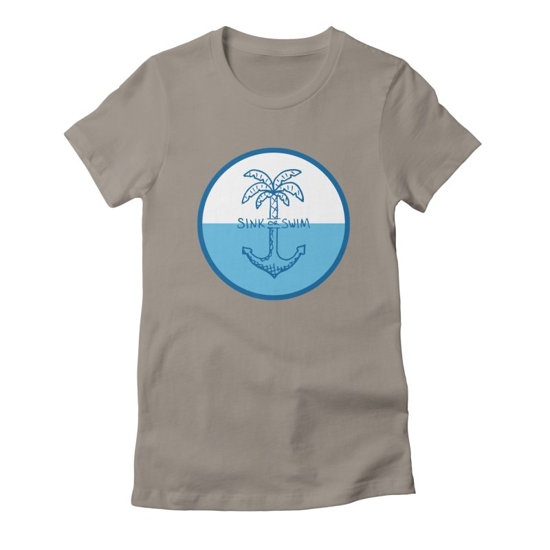Sink or Swim Women's Fitted T-Shirt by Seanic Supply Co.