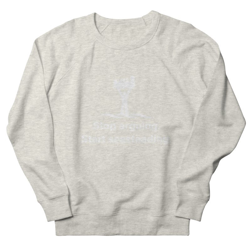 Stop Arguing Start Seasteading (logo white) Men's Sweatshirt by The Seasteading Institute's Supporter's Shop