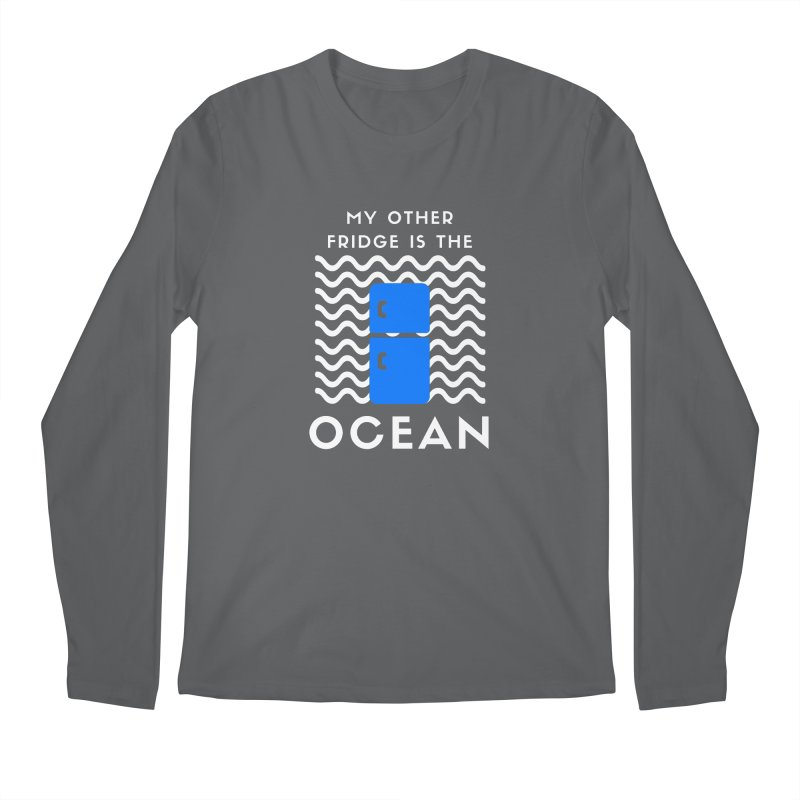 Other Fridge is the Ocean (white) Men's Longsleeve T-Shirt by The Seasteading Institute's Supporters Shop