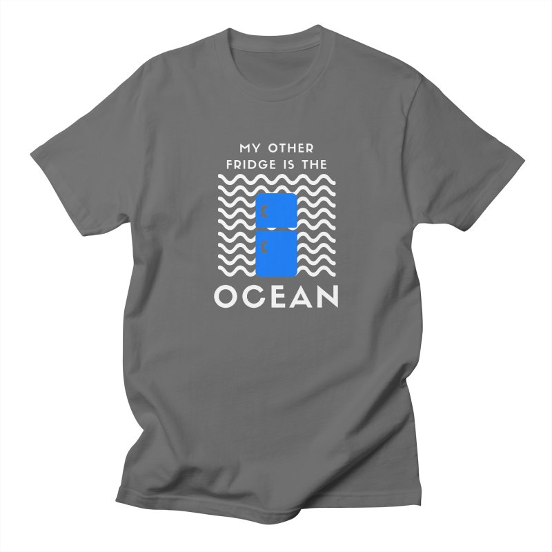 Other Fridge is the Ocean (white) Men's T-Shirt by The Seasteading Institute's Supporters Shop