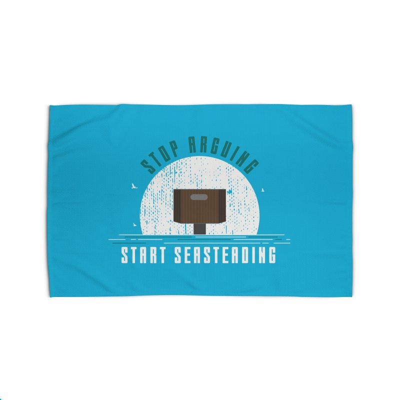 First Seasteaders Stop Arguing Start Seasteading Home Rug by The Seasteading Institute's Supporters Shop