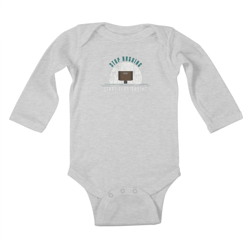 First Seasteaders Stop Arguing Start Seasteading Kids Baby Longsleeve Bodysuit by The Seasteading Institute's Supporters Shop