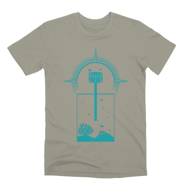 The First Seastead (green) Men's Premium T-Shirt by The Seasteading Institute's Supporters Shop