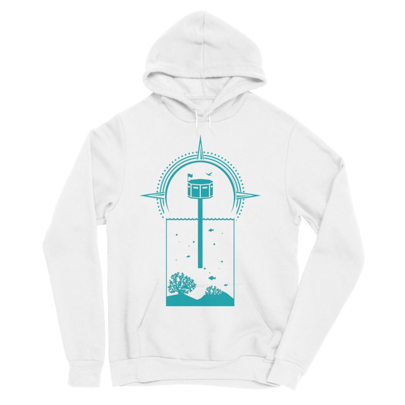 The First Seastead (green) Women's Sponge Fleece Pullover Hoody by The Seasteading Institute's Supporters Shop