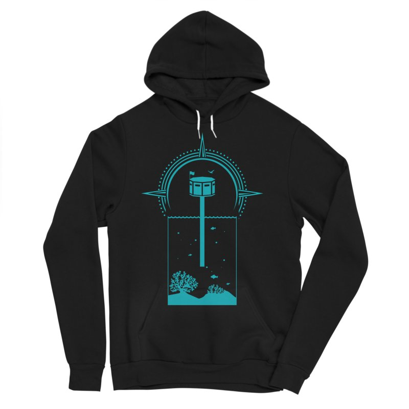 The First Seastead (green) Men's Sponge Fleece Pullover Hoody by The Seasteading Institute's Supporters Shop
