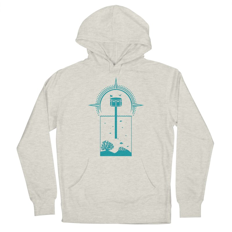 The First Seastead (green) Men's Pullover Hoody by The Seasteading Institute's Supporters Shop