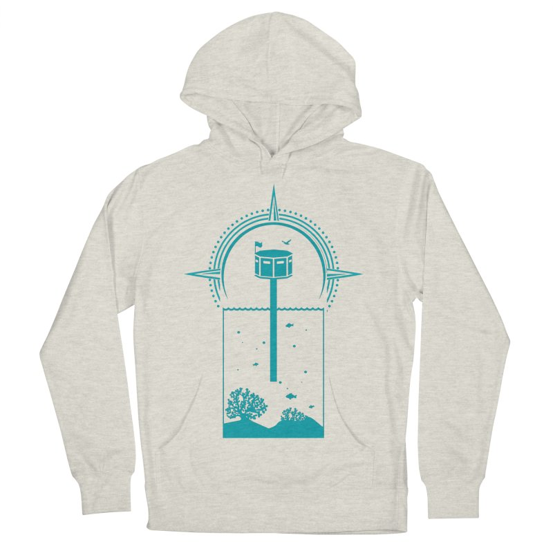 The First Seastead (green) Women's French Terry Pullover Hoody by The Seasteading Institute's Supporters Shop