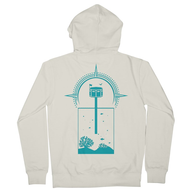 The First Seastead (green) Women's French Terry Zip-Up Hoody by The Seasteading Institute's Supporters Shop