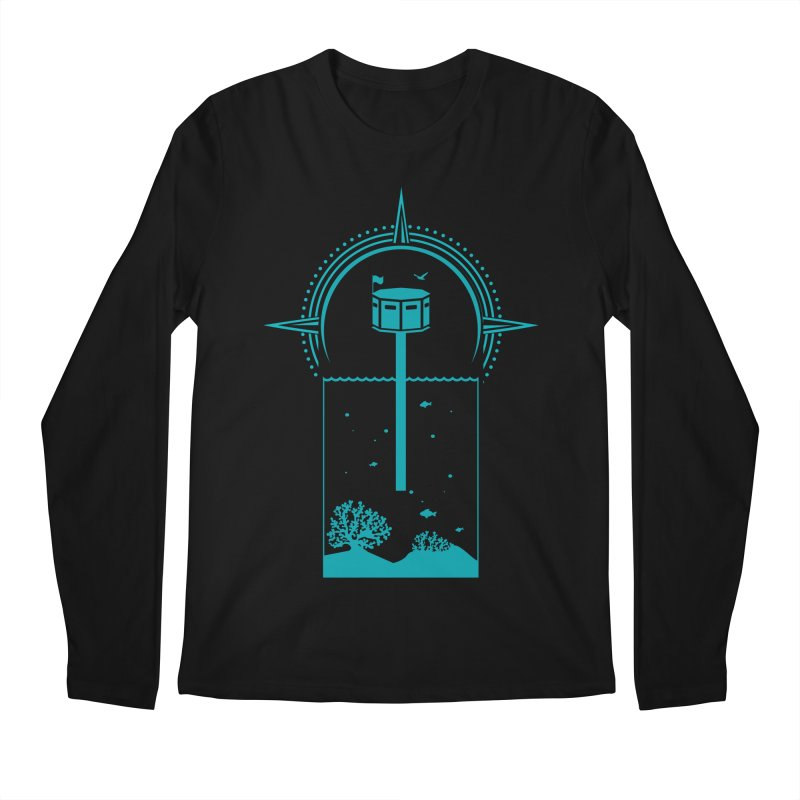 The First Seastead (green) Men's Regular Longsleeve T-Shirt by The Seasteading Institute's Supporters Shop