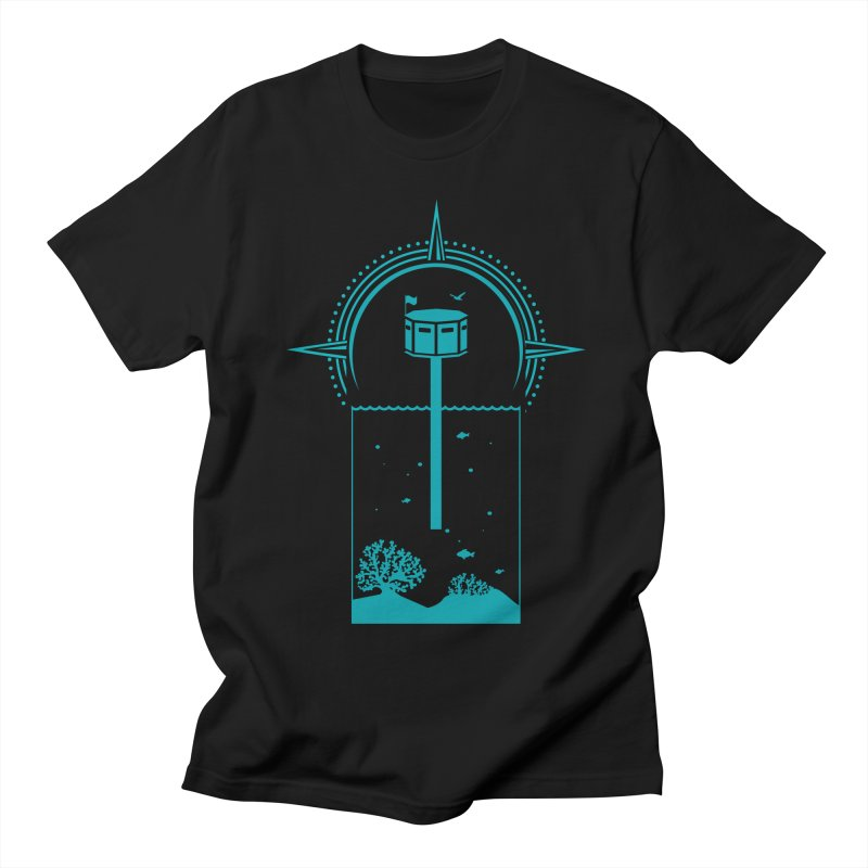 The First Seastead (green) Men's Regular T-Shirt by The Seasteading Institute's Supporters Shop