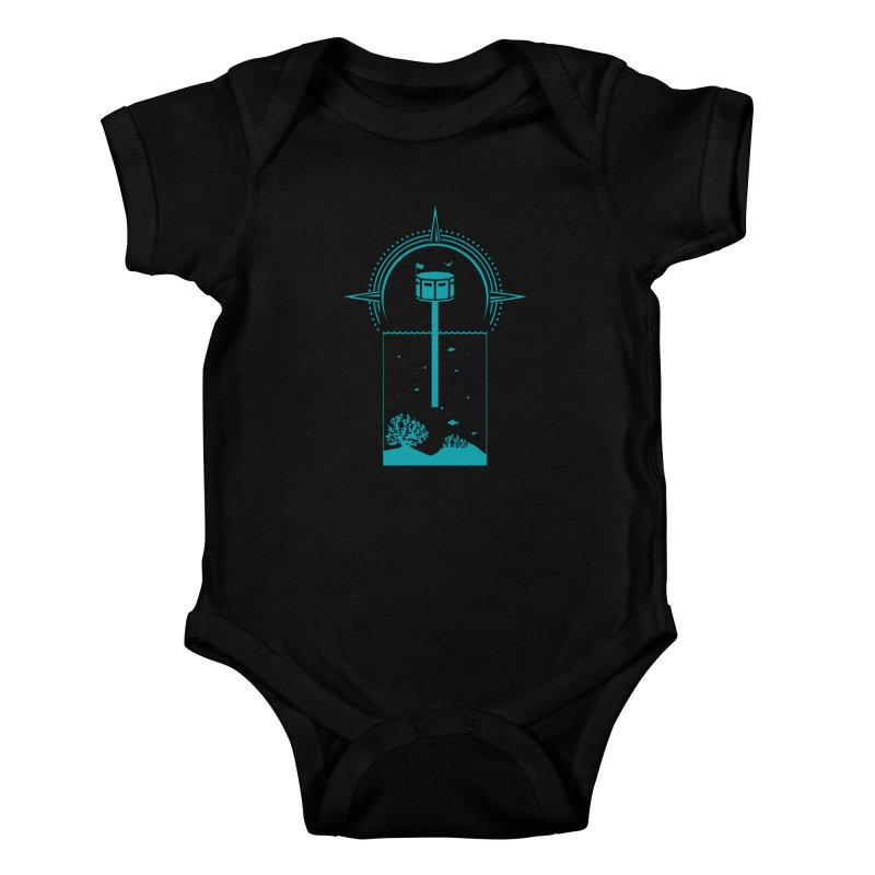 The First Seastead (green) Kids Baby Bodysuit by The Seasteading Institute's Supporters Shop