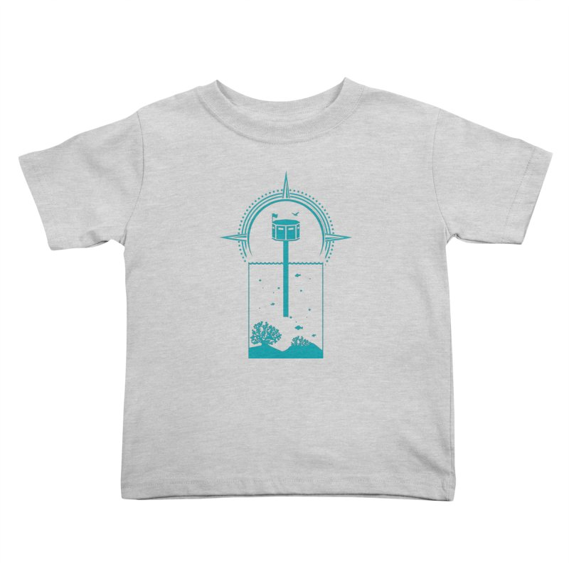 The First Seastead (green) Kids Toddler T-Shirt by The Seasteading Institute's Supporters Shop