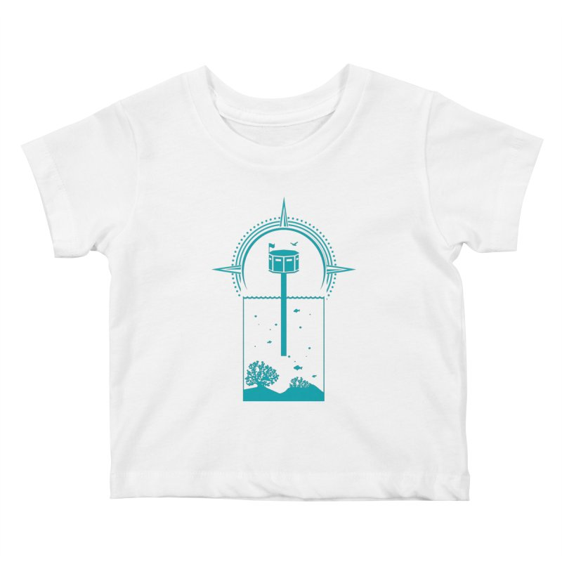 The First Seastead (green) Kids Baby T-Shirt by The Seasteading Institute's Supporters Shop