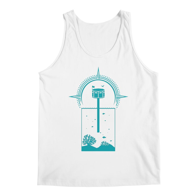 The First Seastead (green) Men's Regular Tank by The Seasteading Institute's Supporters Shop