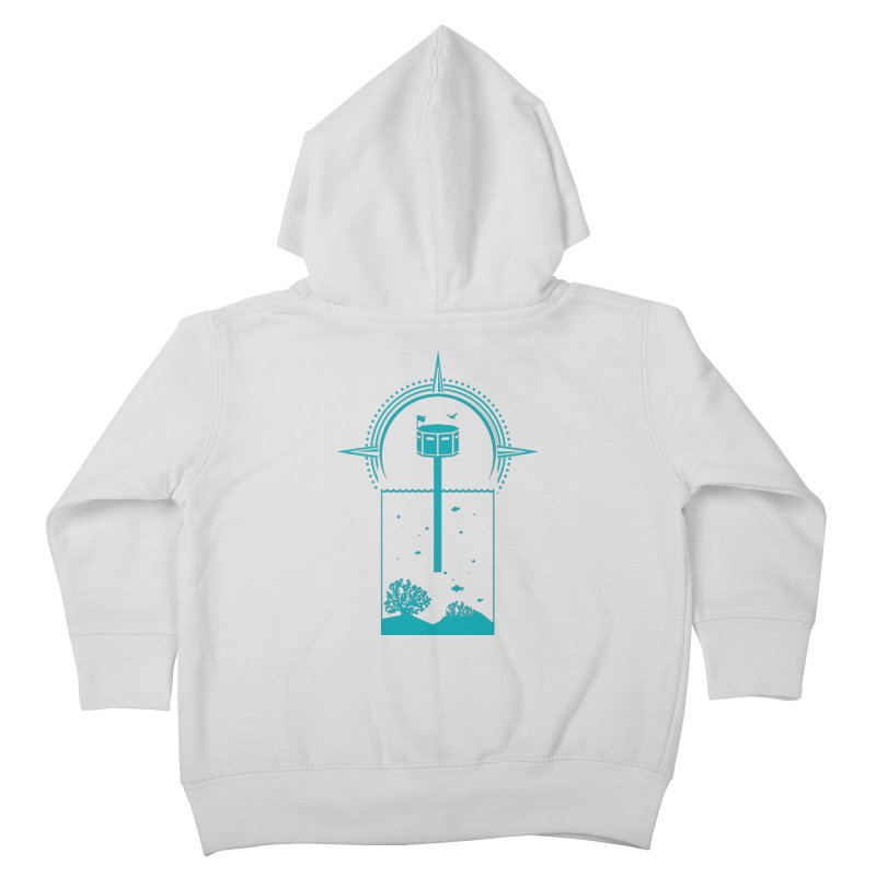 The First Seastead (green) Kids Toddler Zip-Up Hoody by The Seasteading Institute's Supporters Shop