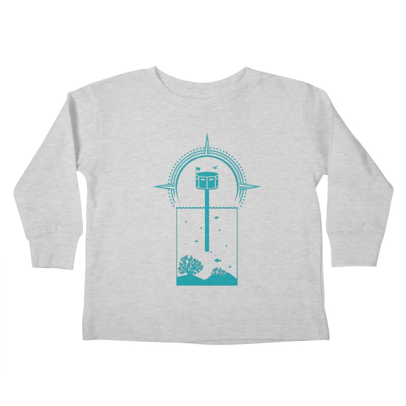 The First Seastead (green) Kids Toddler Longsleeve T-Shirt by The Seasteading Institute's Supporters Shop
