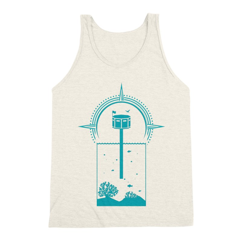 The First Seastead (green) Men's Triblend Tank by The Seasteading Institute's Supporters Shop