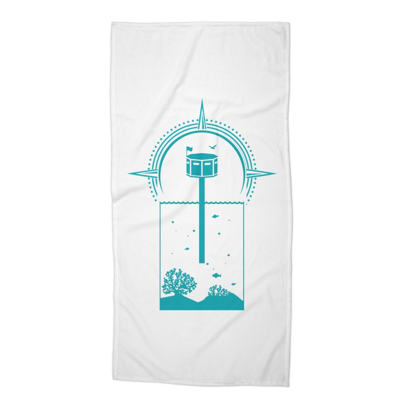 The First Seastead (green) Accessories Beach Towel by The Seasteading Institute's Supporters Shop