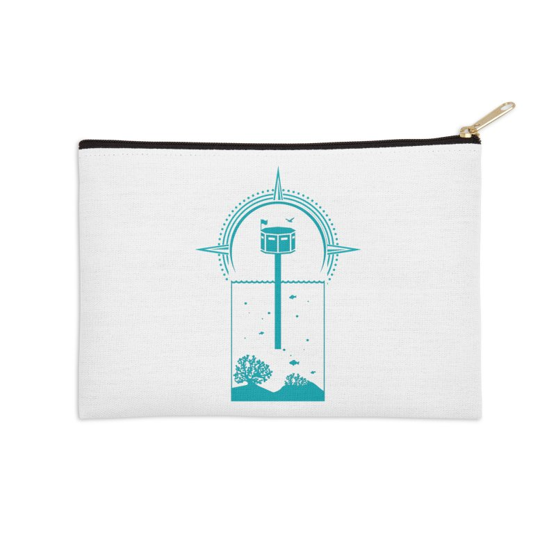 The First Seastead (green) Accessories Zip Pouch by The Seasteading Institute's Supporters Shop