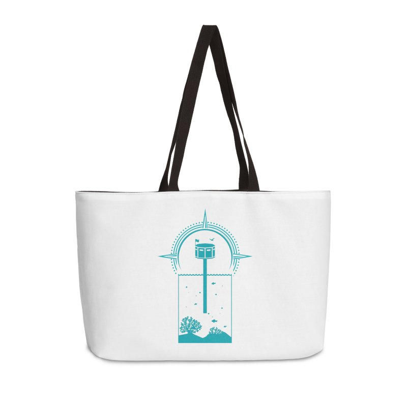 The First Seastead (green) Accessories Weekender Bag Bag by The Seasteading Institute's Supporters Shop