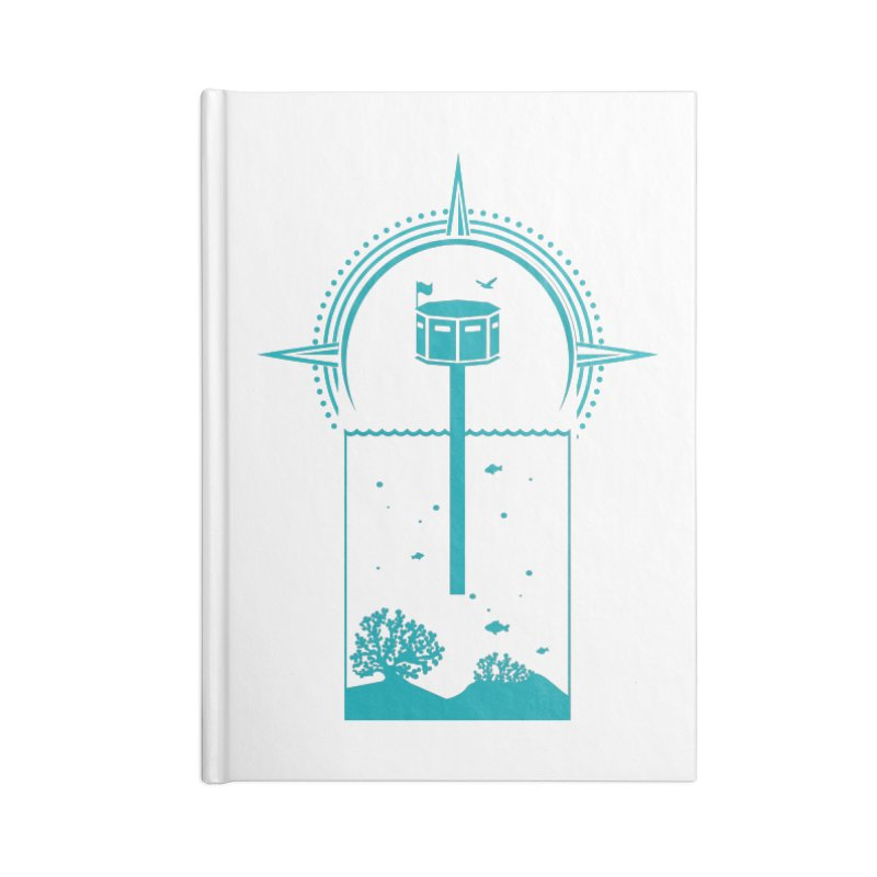 The First Seastead (green) Accessories Blank Journal Notebook by The Seasteading Institute's Supporters Shop