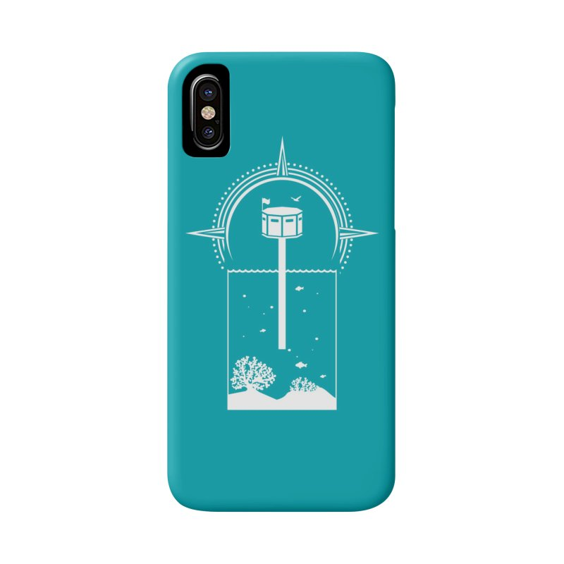 The First Seastead (white) Accessories Phone Case by The Seasteading Institute's Supporters Shop