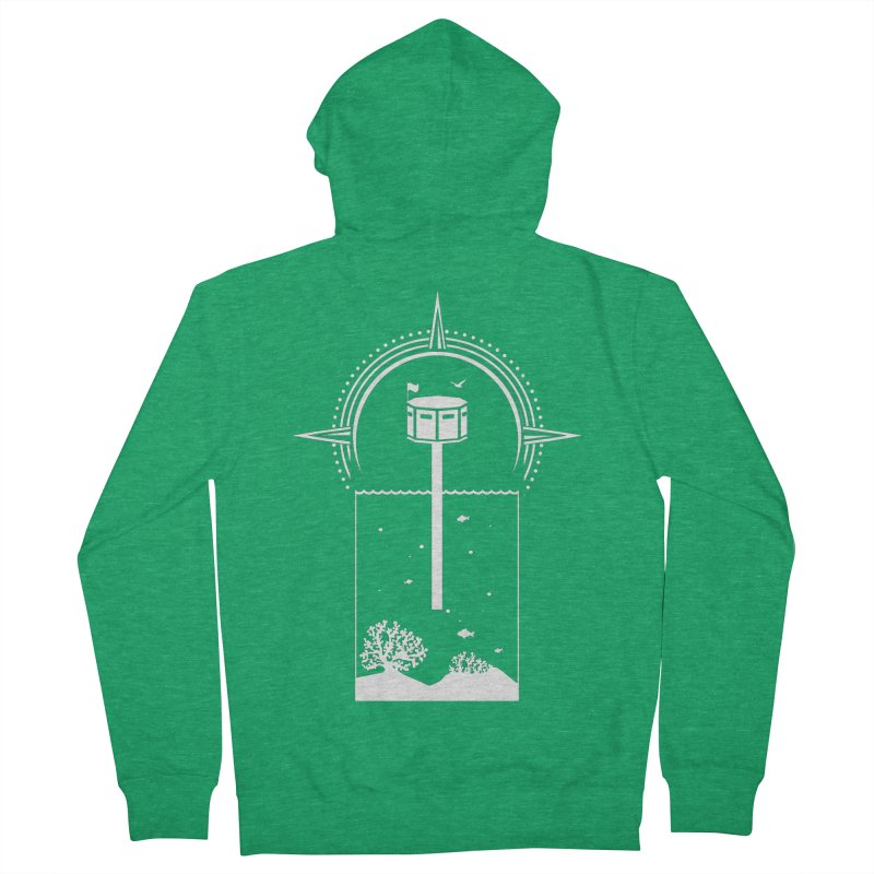The First Seastead (white) Women's Zip-Up Hoody by The Seasteading Institute's Supporters Shop