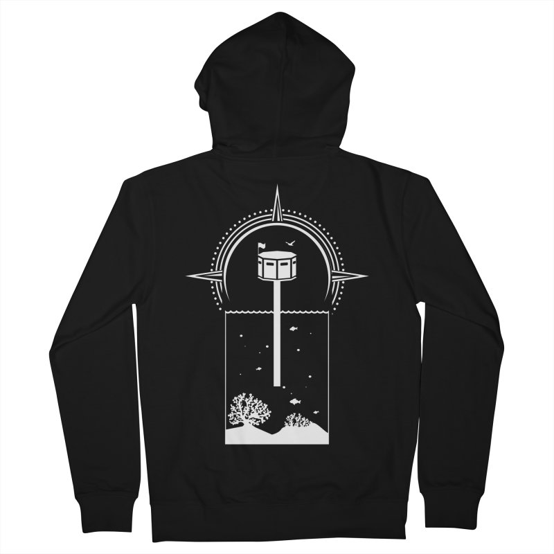 The First Seastead (white) Men's French Terry Zip-Up Hoody by The Seasteading Institute's Supporters Shop