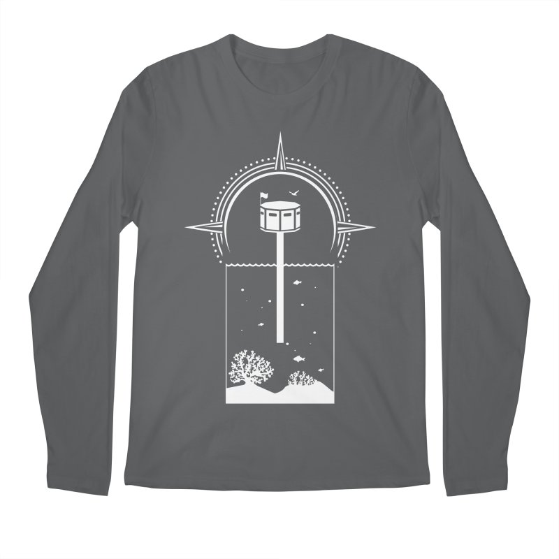 The First Seastead (white) Men's Longsleeve T-Shirt by The Seasteading Institute's Supporters Shop
