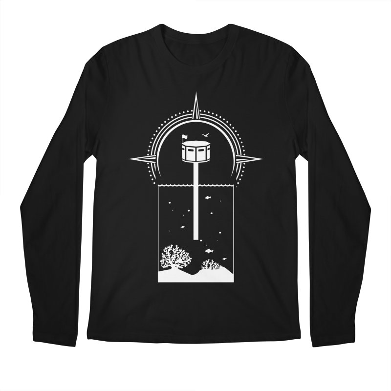 The First Seastead (white) Men's Regular Longsleeve T-Shirt by The Seasteading Institute's Supporters Shop