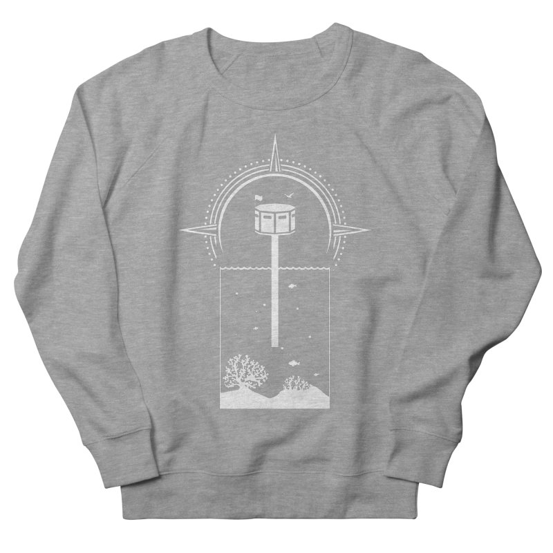 The First Seastead (white) Women's French Terry Sweatshirt by The Seasteading Institute's Supporters Shop