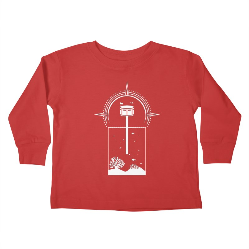 The First Seastead (white) Kids Toddler Longsleeve T-Shirt by The Seasteading Institute's Supporters Shop