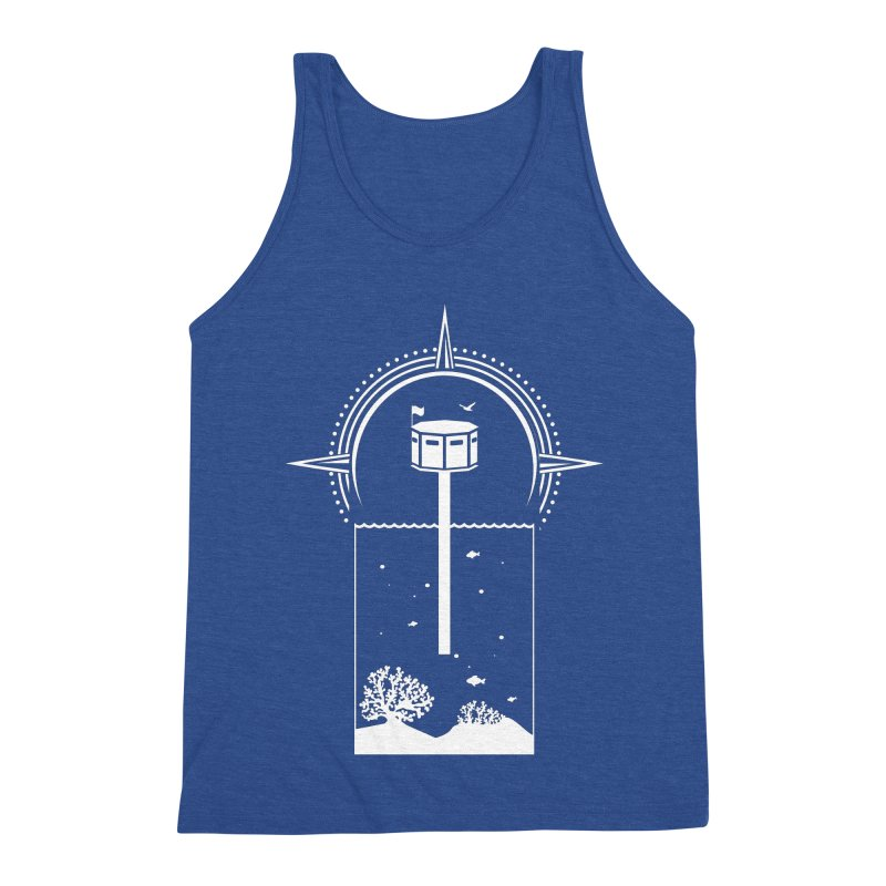 The First Seastead (white) Men's Triblend Tank by The Seasteading Institute's Supporters Shop