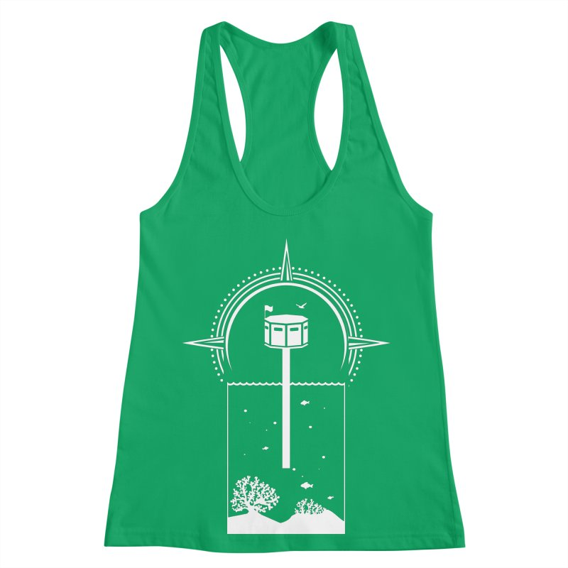 The First Seastead (white) Women's Racerback Tank by The Seasteading Institute's Supporters Shop