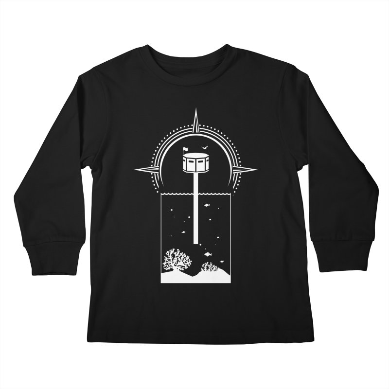 The First Seastead (white) Kids Longsleeve T-Shirt by The Seasteading Institute's Supporters Shop