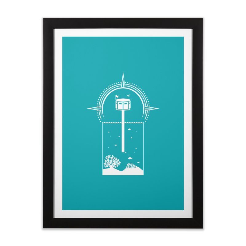 The First Seastead (white) Home Framed Fine Art Print by The Seasteading Institute's Supporters Shop