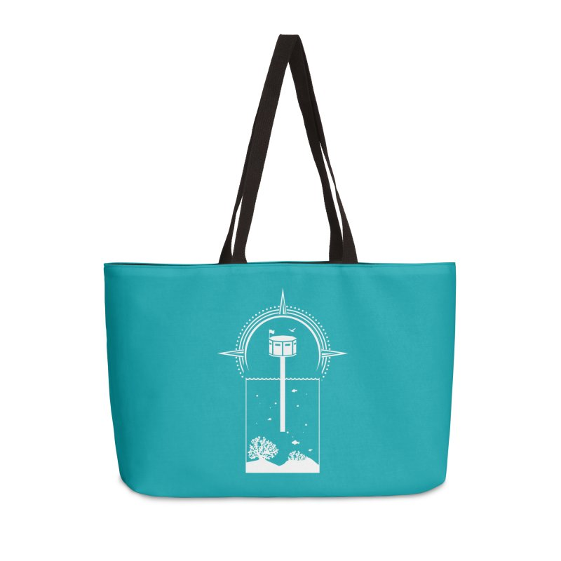 The First Seastead (white) Accessories Weekender Bag Bag by The Seasteading Institute's Supporters Shop