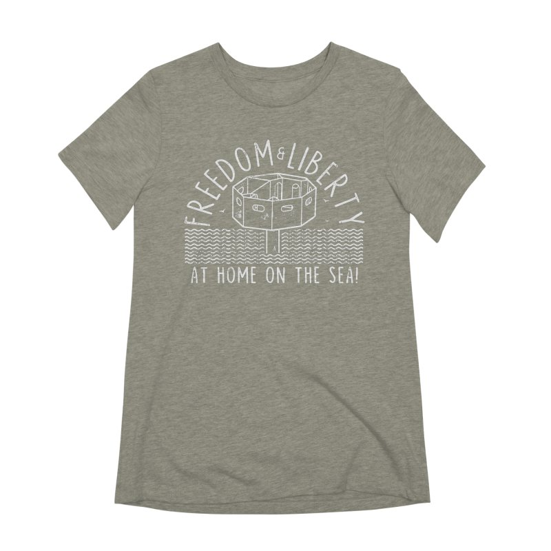 Freedom & Liberty First Seastead Women's Extra Soft T-Shirt by The Seasteading Institute's Supporters Shop